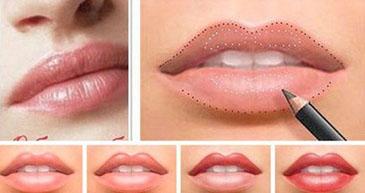 атуаж губ в салоне красоты Jadore До/После процедуры